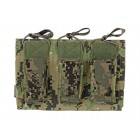EMERSON 5.56/9MM OPEN TOP TRIPLE MAGAZINE COMBO POUCH - AOR2