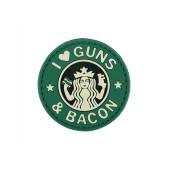 "8FIELDS ""I LOVE GUNS & BACON"" PVC PATCH 1"