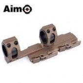 AIM-O TACTICAL TOP RAIL EXTEND 25.4MM TO 30MM RING MOUNT - DARK EARTH