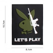 "ACM PATCH 3D PVC PLAYBOY GUN ""LET'S PLAY"""