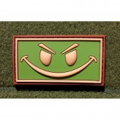 JTG EVIL SMILEY PATCH MULTICAM 3D RUBBER