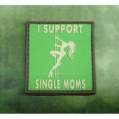 JTG I SUPPORT SINGLE MOMS PATCH MULTICAM 3D RUBBER