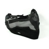 ACM V2 STRIKE METAL MESH HALF FACE MASK BLACK