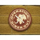 JTG OPERATION DINNER OUT PATCH DESERT-CHOCOLAT 3D RUBBER
