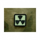 JTG H3 RADIOACTIVE PATCH BLACKGHOST (GLOW IN THE DARK) 3D RUBBER