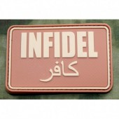 JTG INFIDEL PATCH LARGE DESERT 3D RUBBER