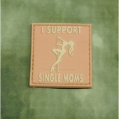 JTG - I SUPPORT SIGLE MOMS DESERT 3D RUBBER