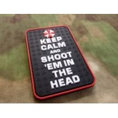 JTG KEEPCALM AND SHOOT PATCH FULLCOLOR 3D RUBBER