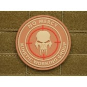 .JTG NO MERCY KINETIC WORKING GROUP Patch DESERT 3D RUBBER