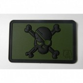 JTG PIRATE SKULL PATCH FOREST 3D RUBBER