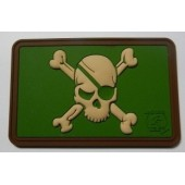 JTG PIRATE SKULL PATCH MULTICAM 3D RUBBER