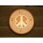 JTG PEACE PATCH DESERT 3D RUBBER