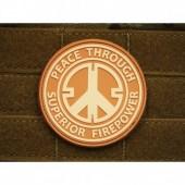 JTG PEACE PATCH DESERT 3D RUBBER