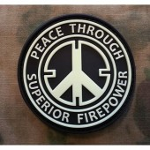 JTG PEACE PATCH (GLOW IN THE DARK) 3D RUBBER