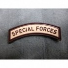 JTG SPECIAL FORCES TAB PATCH DESERT 3D RUBBER