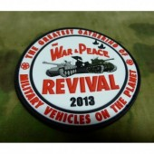 JTG WAR & PEACE SHOW 2013 PATCH 3D RUBBER