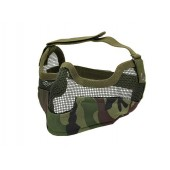 ACM V2 STRIKE METAL MESH HALF FACE MASK WOODLAND