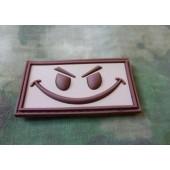 JTG - EVIL SMILEY PATCH DESERT / 3D RUBBER