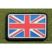 JTG - UK / GREAT BRITAIN FLAG PATCH FULLCOLOR / 3D RUBBER