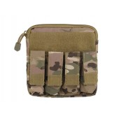 8FIELDS ZIPPERED POUCH MOLLE W/ PISTOL MAG POUCHES MULTICAM