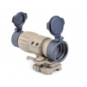 AIM-O ET STYLE 4X FXD MAGNIFIER WITH ADJUSTABLE QD MOUNT TAN