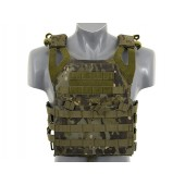 8FIELDS JUMP PLATE CARRIER WITH DUMMY SAPI PLATES MULTICAM TROPIC
