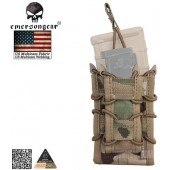 EMERSON DOUBLE DECKER MAGAZINE POUCH MULTICAM 500D