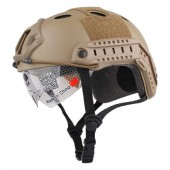 EMERSON FAST HELMET WITH PROTECTIVE GOOGLE PJ DESERT