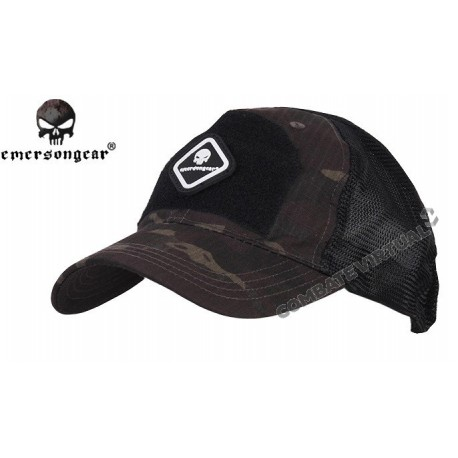 4e52e3ed055 EMERSON TACTICAL ASSAULTER CAP MULTICAM BLACK - Combate Virtual - Loja de  Airsoft