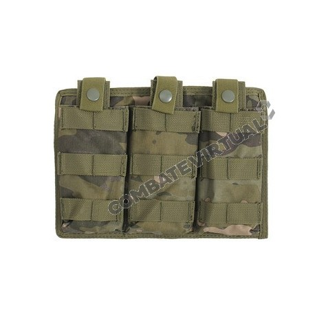 8FIELDS EASY ACCESS TRIPLE AR-15/M4 MAG POUCH MULTICAM TROPIC