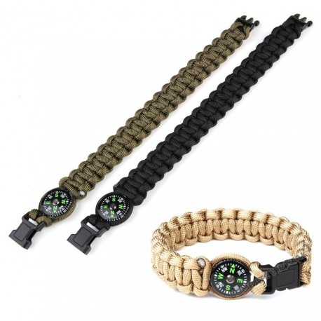 FOSCO PARACORD COMPASS 8 INCH GREEN