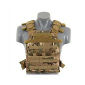 8FIELDS ASSAULT PLATE CARRIER WITH DUMMY SAPI PLATES -MULTICAM