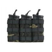 8FIELDS MODULAR OPEN TOP TRIPLE MAG POUCH FOR 5.56 - MULTICAM BLACK
