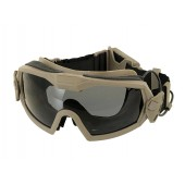 FMA PROTECTIVE GOGGLE MOD.2 WITH BUILT-IN ANTI-FOG FAN -TAN