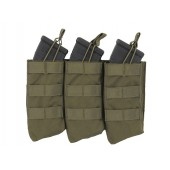 8FIELDS OPEN TOP TRIPLE 7.62X39 AK MAG POUCH - OD