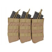 8FIELDS OPEN TOP TRIPLE 7.62X39 AK MAG POUCH - TAN