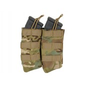 8FIELDS OPEN TOP DOUBLE 7.62X39 AK MAG POUCH - MULTICAM