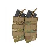 8FIELDS OPEN TOP DOUBLE 7.62X39 AK MAG POUCH - MULTICAM