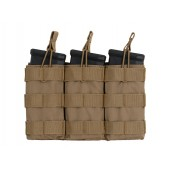 8FIELDS MODULAR OPEN TOP TRIPLE MAG POUCH FOR 5.56 - TAN