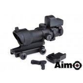 AIM-O ACOG 4X32 SCOPE RED/GREEN RETICLE WITH MINI RED DOT BLACK