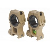 AIM-O M10 25.4MM TO 30MM MOUNT RINGS WITH LEVEL TAN