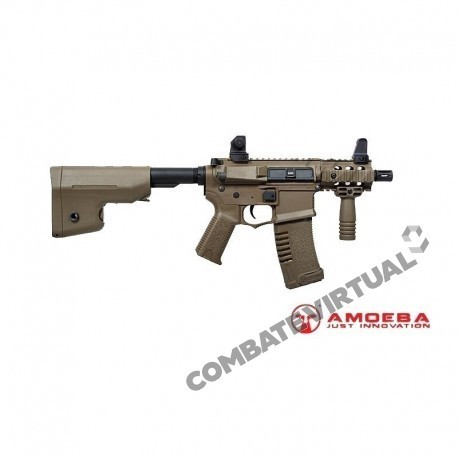 ARES M4 AMOEBA CQB STUBBY RIS FULL CONTACT TAN