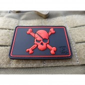 JTG PIRATE SKULL PATCH BLACKMEDIC 3D RUBBER