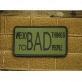 JTG WE DO BAD THINGS INSIDER PATCH FOREST 3D RUBBER