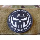 JTG THE INFIDEL PUNISHER PATCH SWAT 3D RUBBER