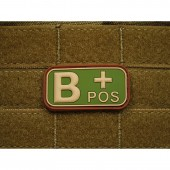 JTG BLOOD TYPE PATCH B POSITIVE MULTICAM 3D RUBBER
