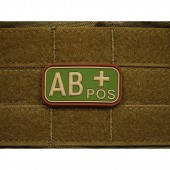 JTG BLOOD TYPE PATCH AB POSITIVE MULTICAM 3D RUBBER