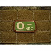 JTG BLOOD TYPE PATCH O NEGATIVE MULTICAM 3D RUBBER