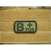 JTG BLOOD TYPE PATCH B POSITIVE FOREST 3D RUBBER