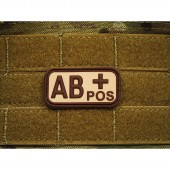 JTG BLOOD TYPE PATCH AB POSITIVE DESERT 3D RUBBER